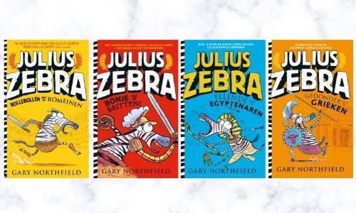 #277. Alweer een geweldige serie!!: Julius Zebra – Rollebollen bij de Romeinen + nog 3 titels